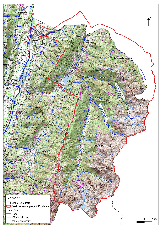 Carte du bassin verssant du Breda