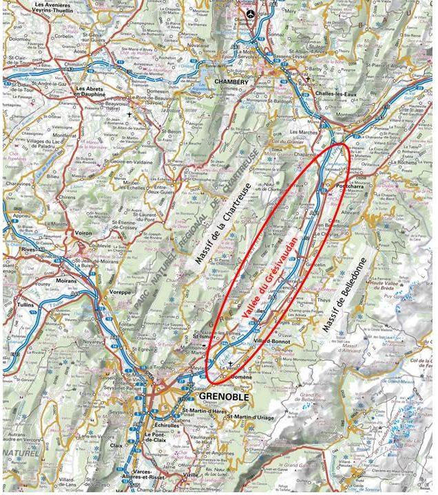 Vallée du Grésivaudan entre Chambéry et Grenoble