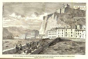 Pont de pierre quai de Grenoble 1859