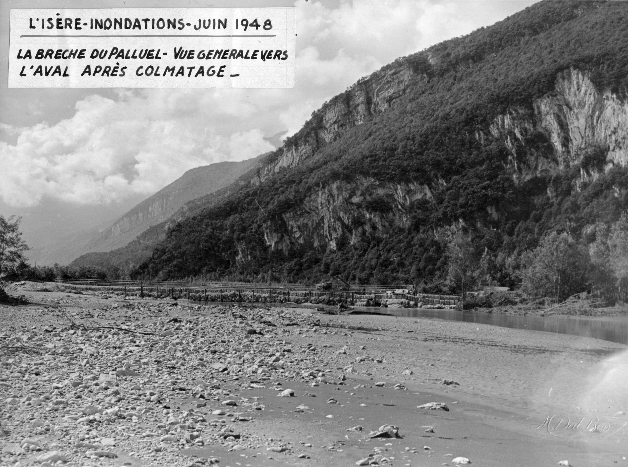 BRECHE PALLUEL APRES TRAVAUX 5 CRUE JUIN 1948 IMAGE VAL BON