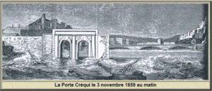 Porte Quai Crequi 3 Novembre 1859 Grenoble