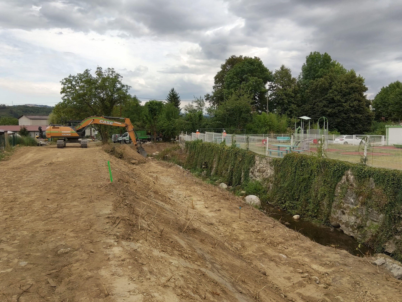 travaux de restauration du Merdarei - Saint-Romans _ début du chantier face aux jardin en aout 2020 _ UTSG_SYMBHI_2020
