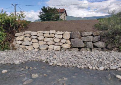 Confortement de digue a Vif sur la Gresse, après travaux travaux - UT Drac