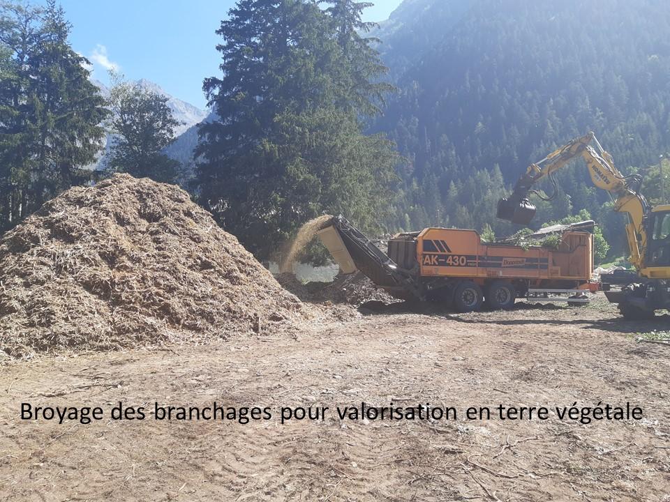Restauration Bonne Malentraz - Phase dévégétalisation, valorisation Valjouffrey UT Drac