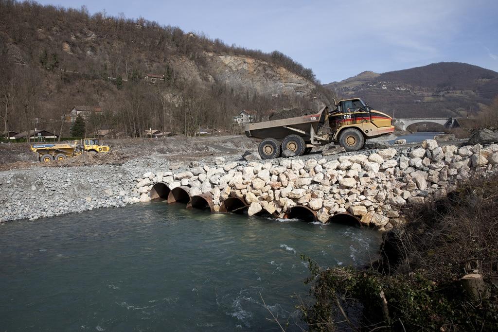 travaux en rivière
